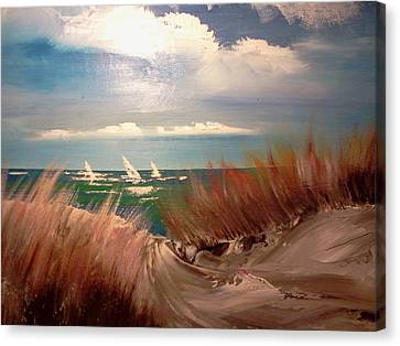 Top Of The Dune Canvas Print by Joseph Gallant
