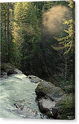 Top Of The Falls Canvas Print by Lynn Bawden