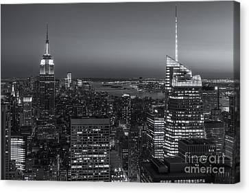 Top Of The Rock Twilight V Canvas Print by Clarence Holmes