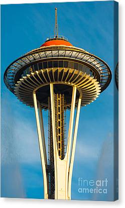 Top Of The Space Needle Canvas Print by Inge Johnsson