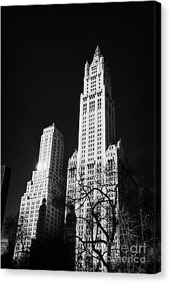 top of the Woolworth building 233 Broadway and transportation building new york Canvas Print by Joe Fox
