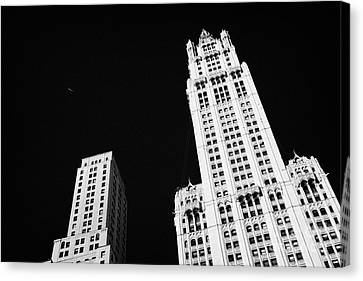 top of the Woolworth building 233 Broadway and transportation new york Canvas Print by Joe Fox