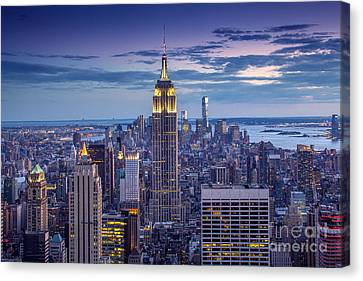 New York City Skyline Canvas Print - Top Of The World by Marco Crupi