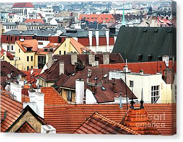 Top View In Prague Canvas Print by John Rizzuto