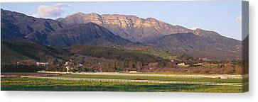 Topa Topa Bluffs Overlooking Ranches Canvas Print by Panoramic Images
