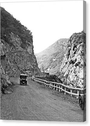 Air Travel Canvas Print - Topanga Canyon Road In La by Underwood Archives