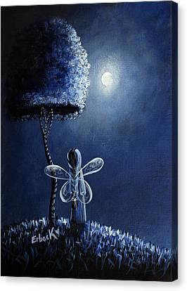Topaz Fairy Original Artwork Canvas Print by Shawna Erback