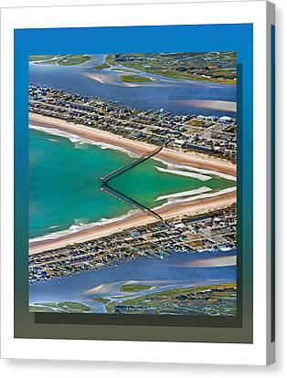 Topsail Beach Aerial Reflection Canvas Print by Betsy Knapp