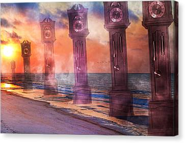 Chimes Canvas Print - Topsail Island A Matter Of Time by Betsy Knapp