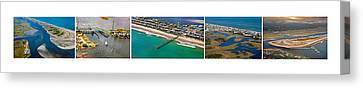 Topsail Island Aerial Panels Canvas Print by Betsy Knapp