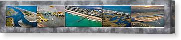 Topsail Island Aerial Panels II Canvas Print by Betsy Knapp