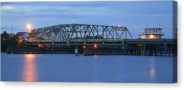 Topsail Island Bridge Canvas Print by Mike McGlothlen