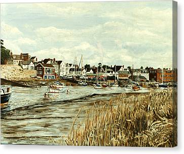 Topsham Devon Viewed From Across The River Exe Canvas Print by Mackenzie Moulton