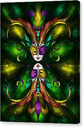 Stained Glass Canvas Print - Topsy Turvy by Mandie Manzano