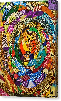 Canvas Print featuring the tapestry - textile Tor by Apanaki Temitayo M