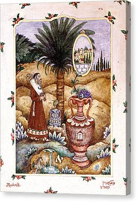 Jerusalem Canvas Print - Torah by Michoel Muchnik