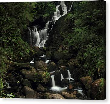 Torc Waterfall Canvas Print by Peter Skelton