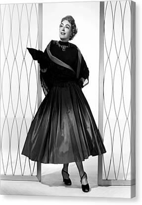 1950s Fashion Canvas Print - Torch Song, Joan Crawford, In A Gown by Everett
