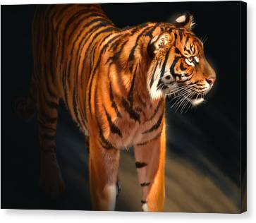 Canvas Print featuring the digital art Torch Tiger 4 by Aaron Blaise