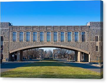 Torgersen Hall At Virginia Tech Canvas Print by Melinda Fawver