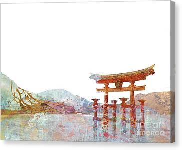 Torii Gate Colorsplash Canvas Print by Aimee Stewart