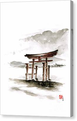 Torii Gate Canvas Print by Mariusz Szmerdt