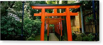 Torii Canvas Print - Torii Gates In A Park, Ueno Park by Panoramic Images