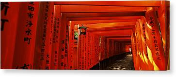 Torii Canvas Print - Torii Gates Of A Shrine, Fushimi by Panoramic Images