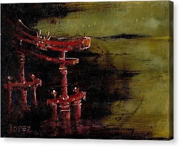 Torii Canvas Print by Julio Lopez