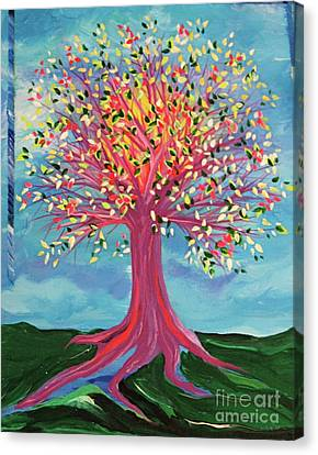 Canvas Print featuring the painting Tori's Tree By Jrr by First Star Art