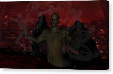 Torment Canvas Print by Jean Gugliuzza