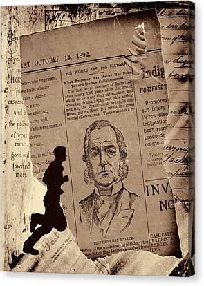Torn Paper Notes 1802 Canvas Print by Bob Orsillo