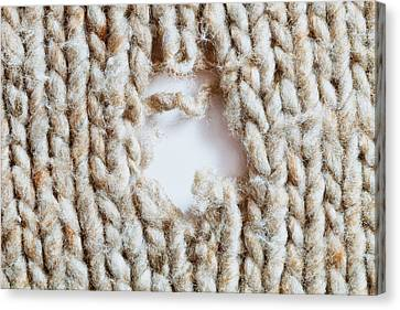 Defects Canvas Print - Torn Wool by Tom Gowanlock