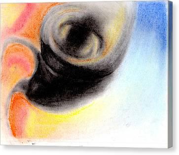 Tornado Abstract Drawing Canvas Print
