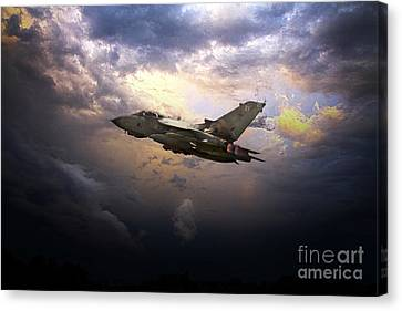 Tornado Art Canvas Print by J Biggadike