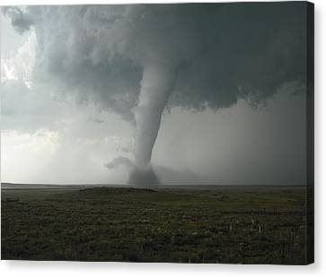 Tornado In The High Plains Canvas Print by Ed Sweeney