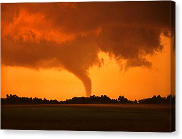 Tornado Sunset Canvas Print