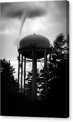 Water Canvas Print featuring the photograph Tornado Tower by Aaron Berg