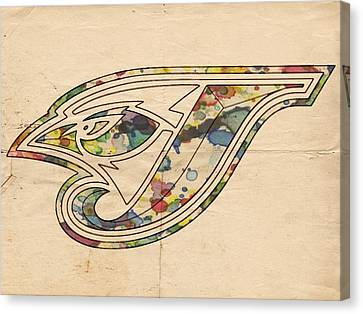 Toronto Blue Jays Poster Vintage Canvas Print by Florian Rodarte