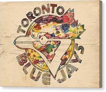 Toronto Blue Jays Vintage Art Canvas Print by Florian Rodarte
