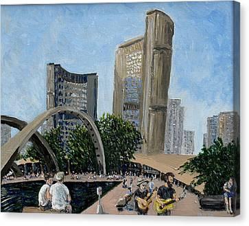 Toronto City Hall Canvas Print by Ian  MacDonald