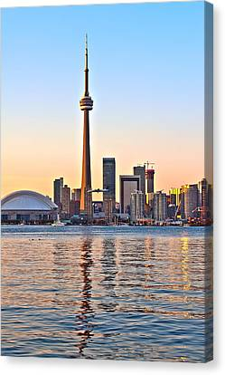 Toronto City View Canvas Print by Marek Poplawski