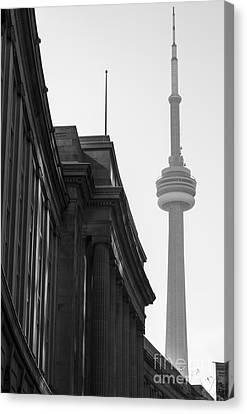 Toronto Cn Tower Canvas Print by Matt  Trimble