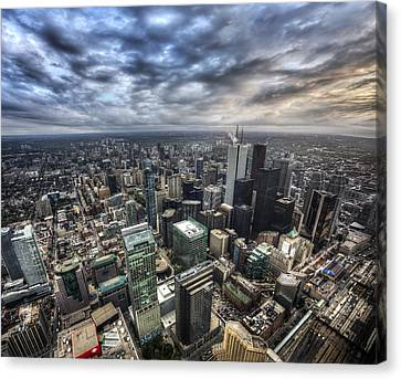 Canvas Print featuring the photograph Toronto Daybreak by Shawn Everhart