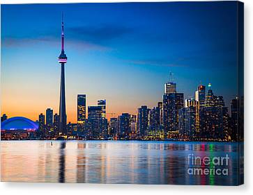 Toronto From Centre Island Canvas Print by Inge Johnsson