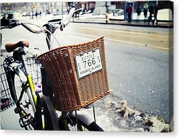 Toronto Islands Bicycle Canvas Print