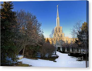 Toronto Lds Mormon Temple Canvas Print