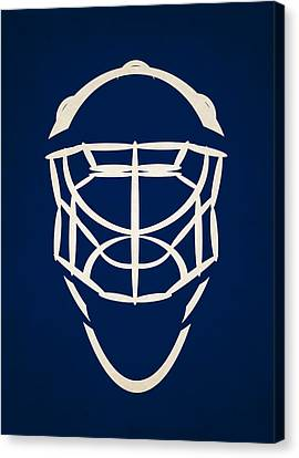 Toronto Maple Leafs Canvas Print - Toronto Maple Leafs Goalie Mask by Joe Hamilton