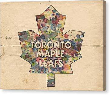 Toronto Maple Leafs Hockey Poster Canvas Print by Florian Rodarte