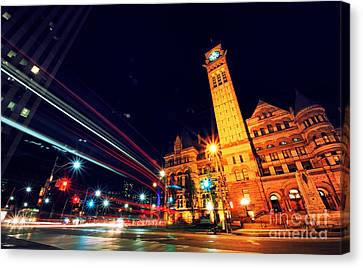 Toronto Old City Hall Canvas Print by Charline Xia